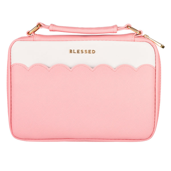 Blessed Pink Scalloped LuxLeather Bible Cover