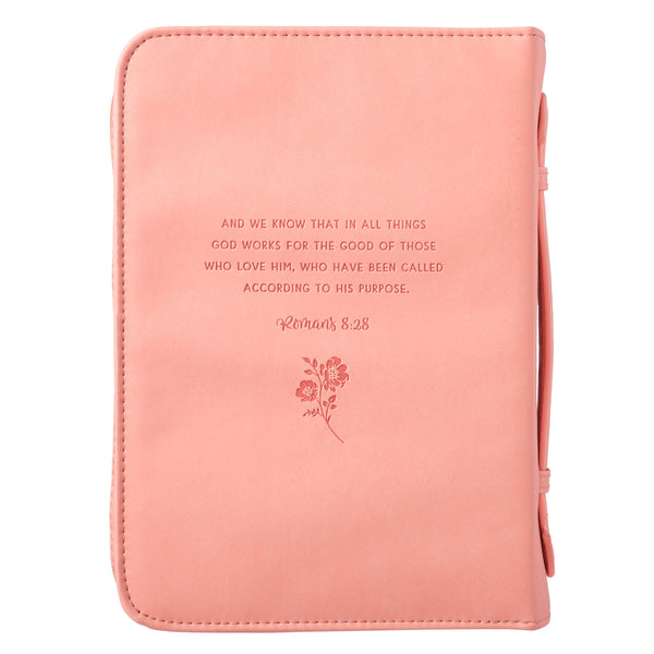 He Works All Things - Romans 8:28 - LuxLeather Bible Cover
