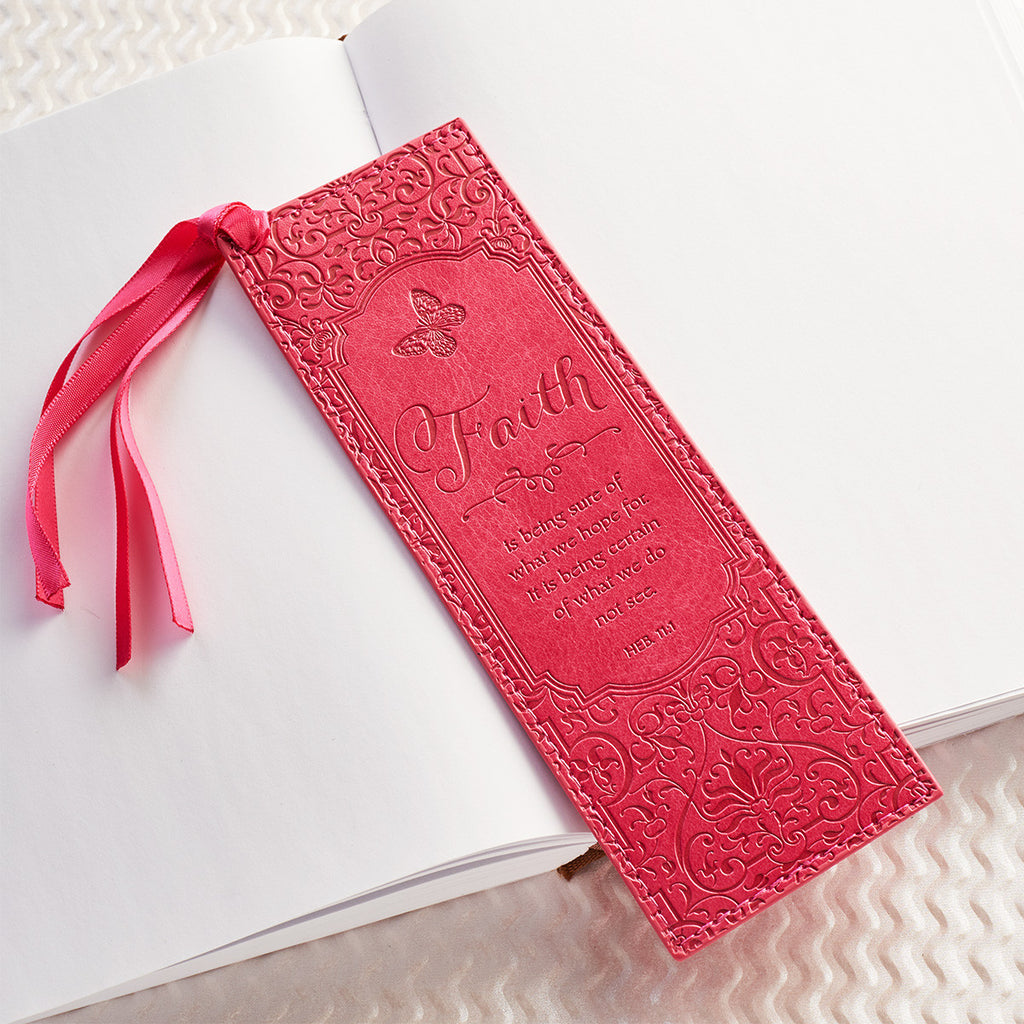 Faith - Hebrews 11:1 -  Faux Leather Bookmark