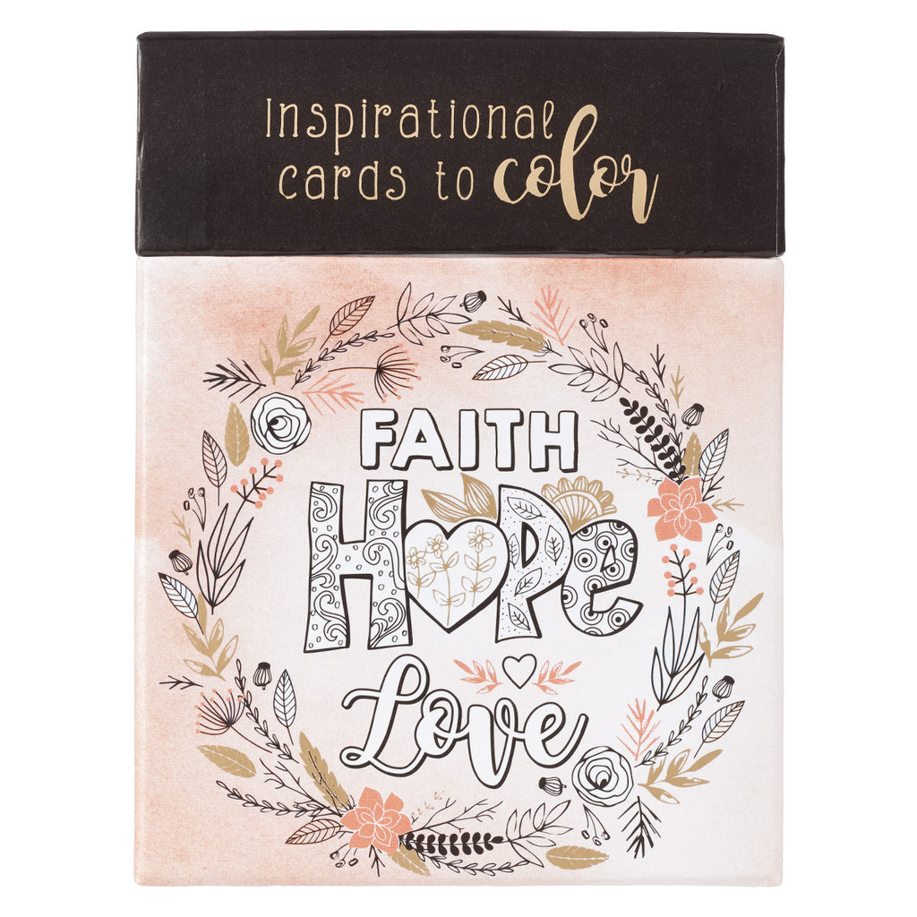 Faith, Hope, and Love Coloring Cards
