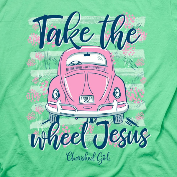 Jesus Take the Wheel - 1 Peter 5:7 - Women's Christian T-shirt