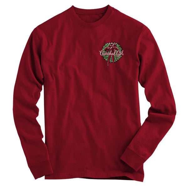 Red Truck Christmas Women's Christian Long Sleeve T-shirt