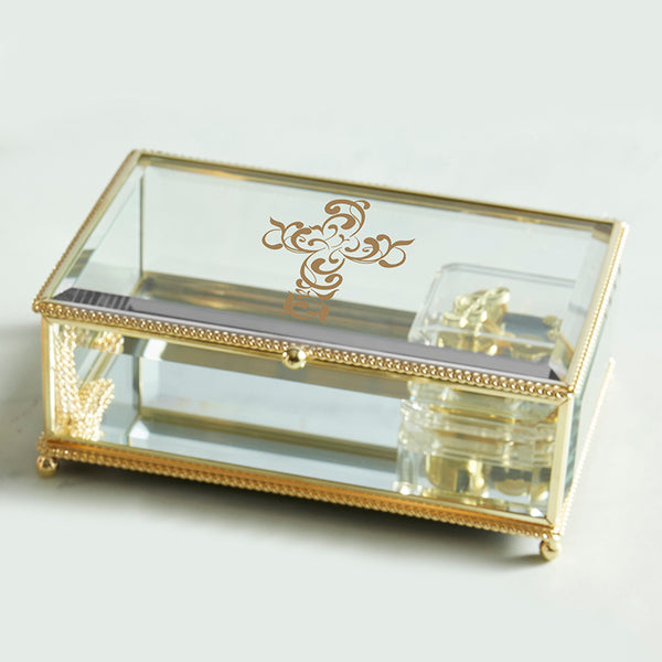 "Gold Cross Music Box  (Plays ""How Great Thou Art"")"