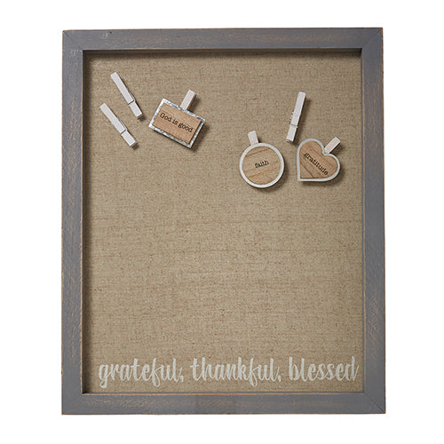 Grateful, Thankful, Blessed Magnetic Bulletin Board