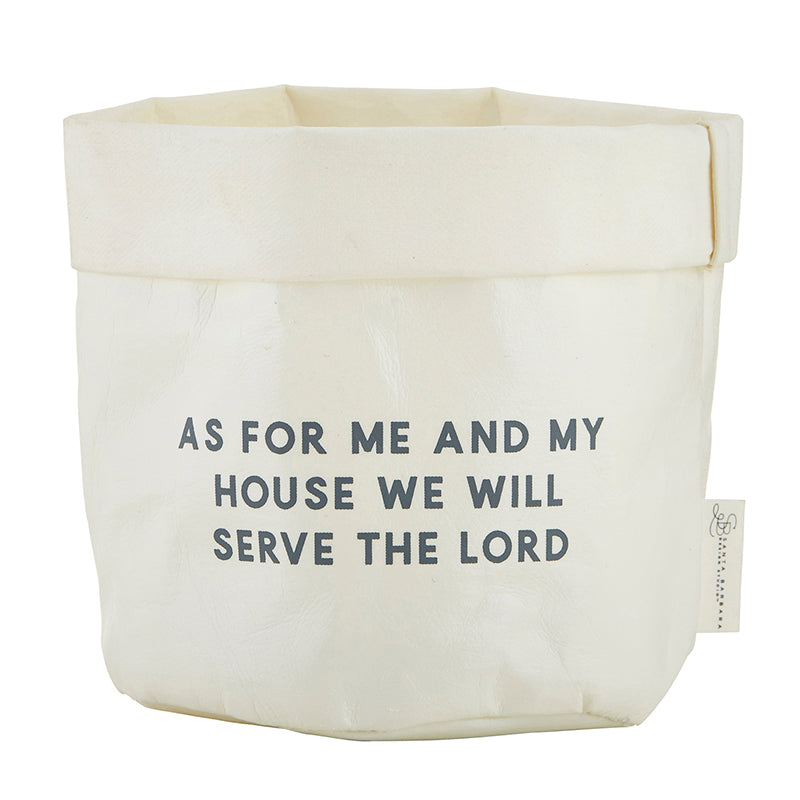 As for Me and My House - Joshua 24:15 - Washable Paper Holder