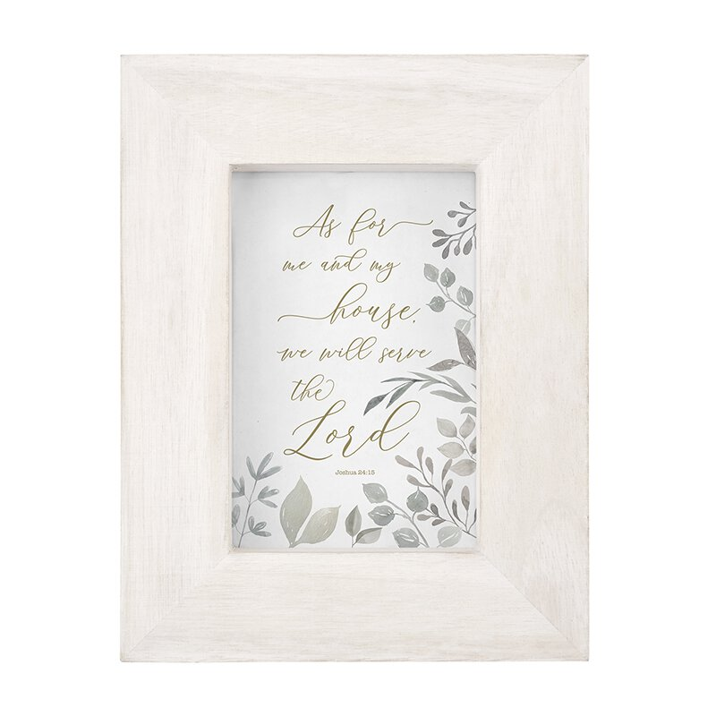 As for Me and My House - Joshua 24:15 - Photo Frame