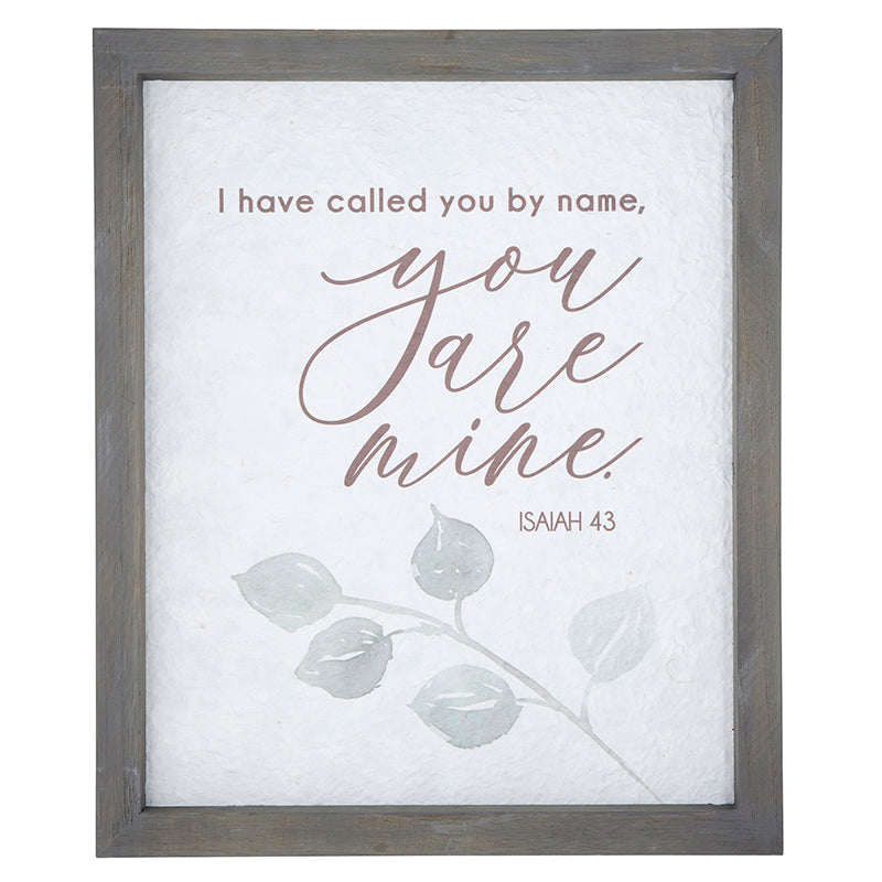 Called You by Name - Isaiah 43:1 - Framed Wall Art