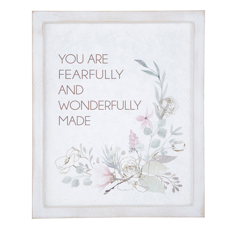 Fearfully and Wonderfully Made Framed Wall Art