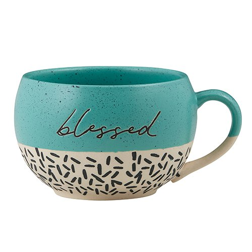 Blessed Stoneware Mug (Set of 2)