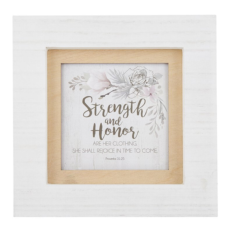 Strength and Honor - Proverbs 31:25 - Photo Frame