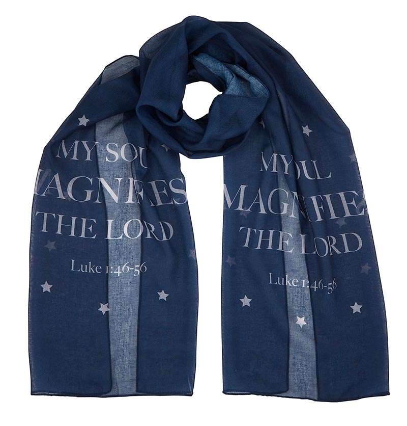 My Soul Magnifies the Lord - Luke 1:46-55 - Magnificat Scarf