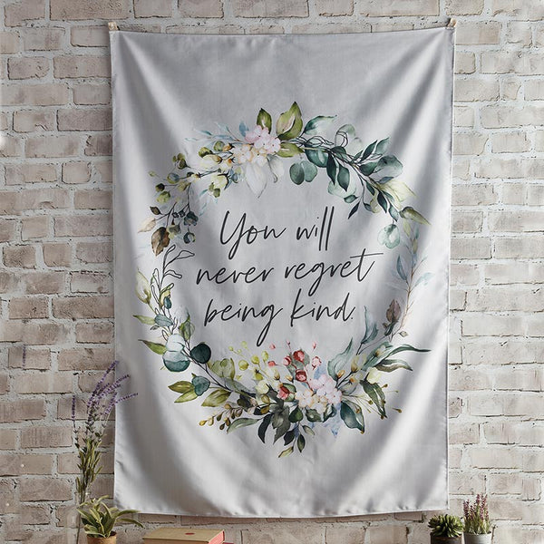 Never Regret Fabric Wall Banner