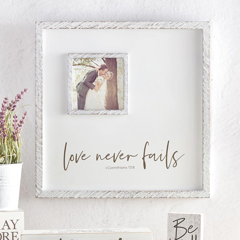 Love Never Fails - 1 Corinthians 13:8 - Photo Frame