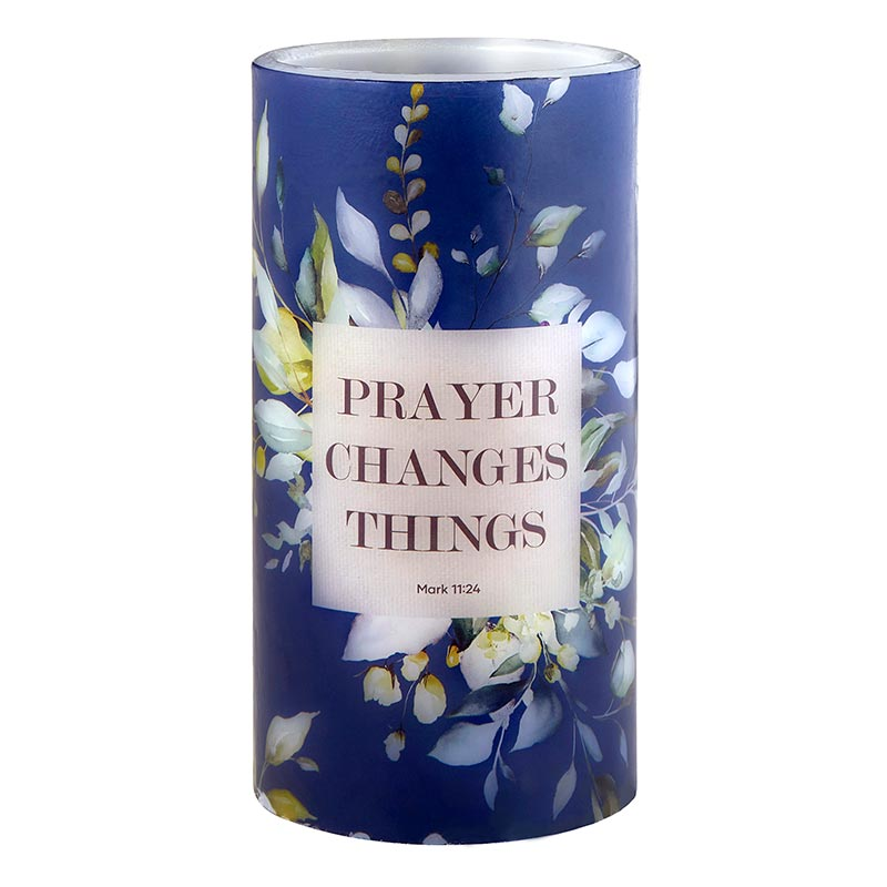 Prayer Changes Things - Mark 11:24 - LED Candle