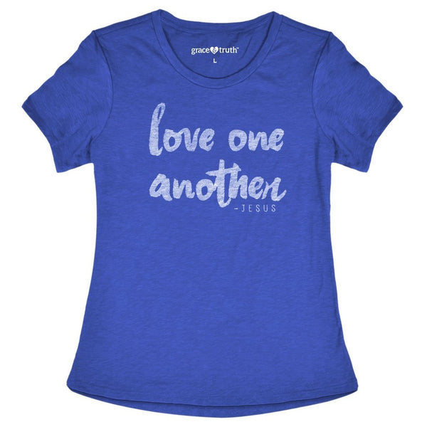 Love One Another - John 13:34 - Women's Christian T-shirt