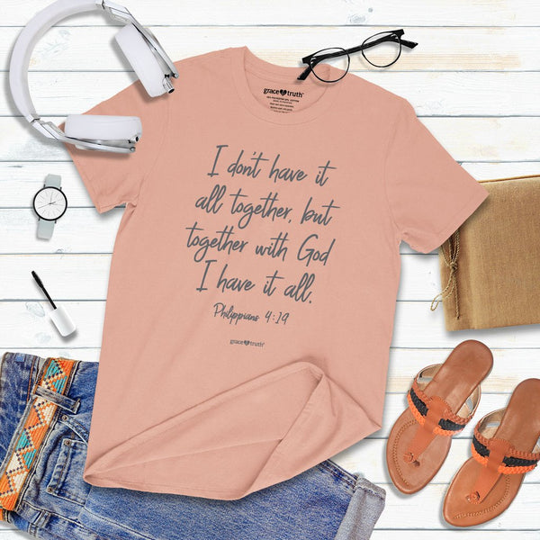 All Together - Philippians 4:19 - Women's Christian T-shirt