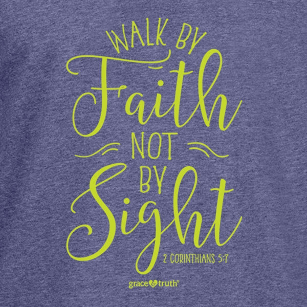 Walk by Faith - 2 Corinthians 5:7 - Women's Christian Hooded T-shirt