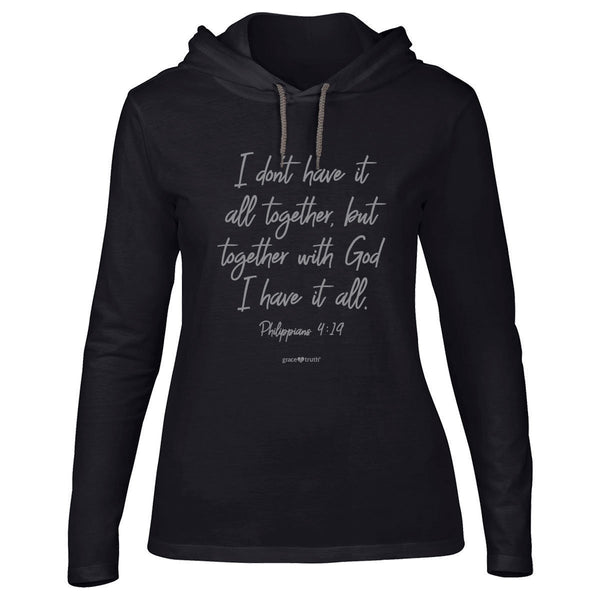 All Together - Philippians 4:19 - Hooded Women's Christian T-shirt