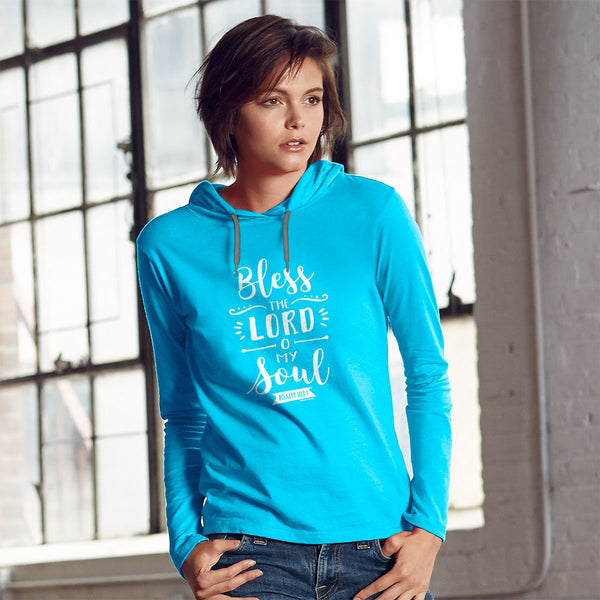 Bless the Lord Women's Christian Hooded T-shirt