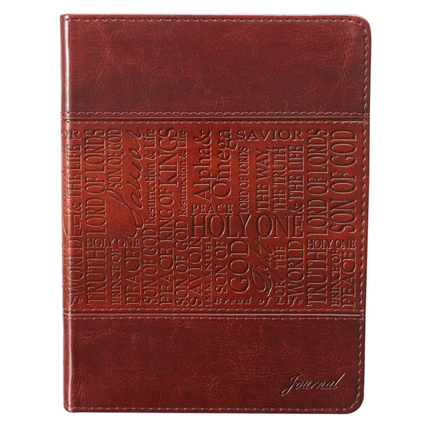 Names of Jesus Classic Luxleather Journal in Brown
