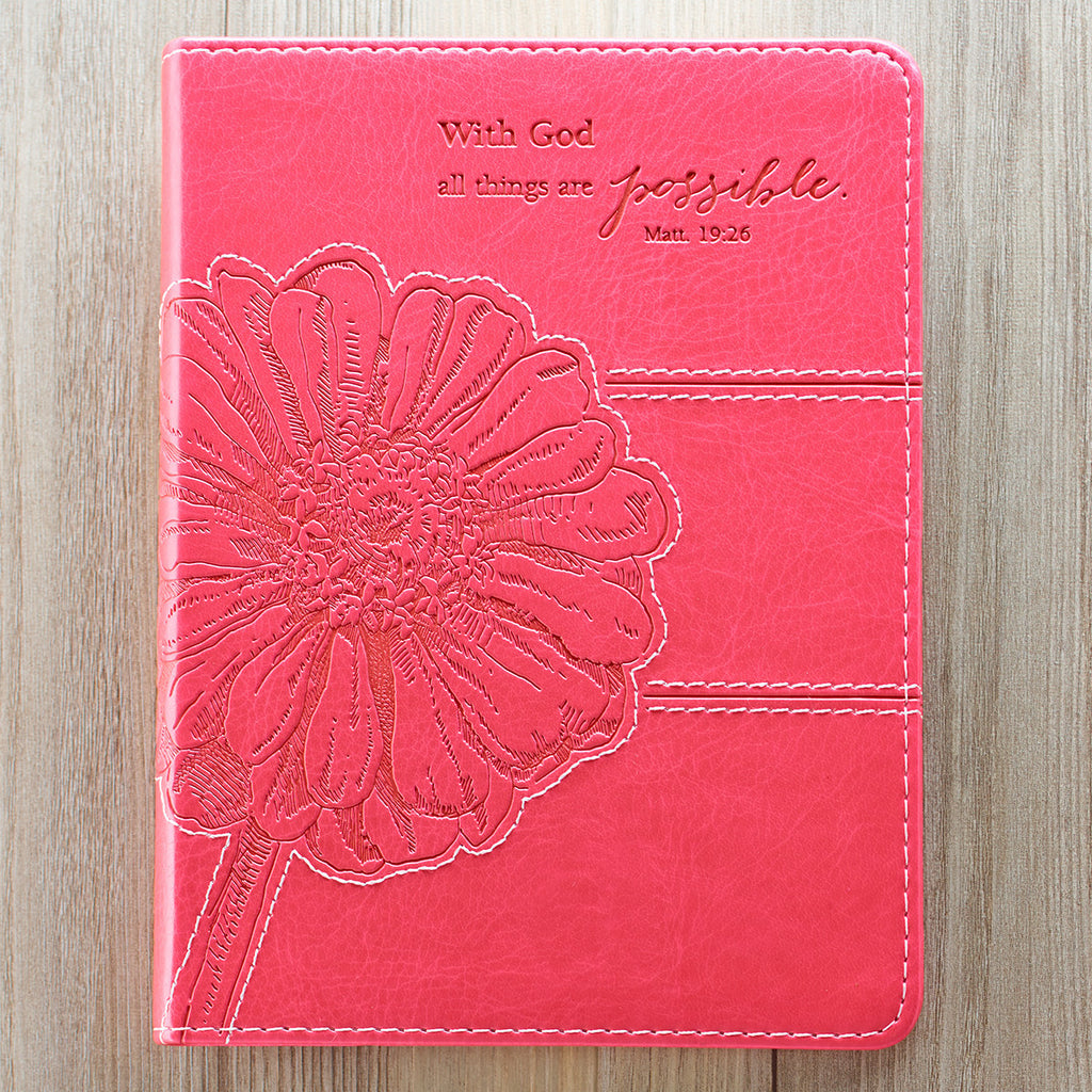 All Things Are Possible - Pink Classic Luxleather Journal