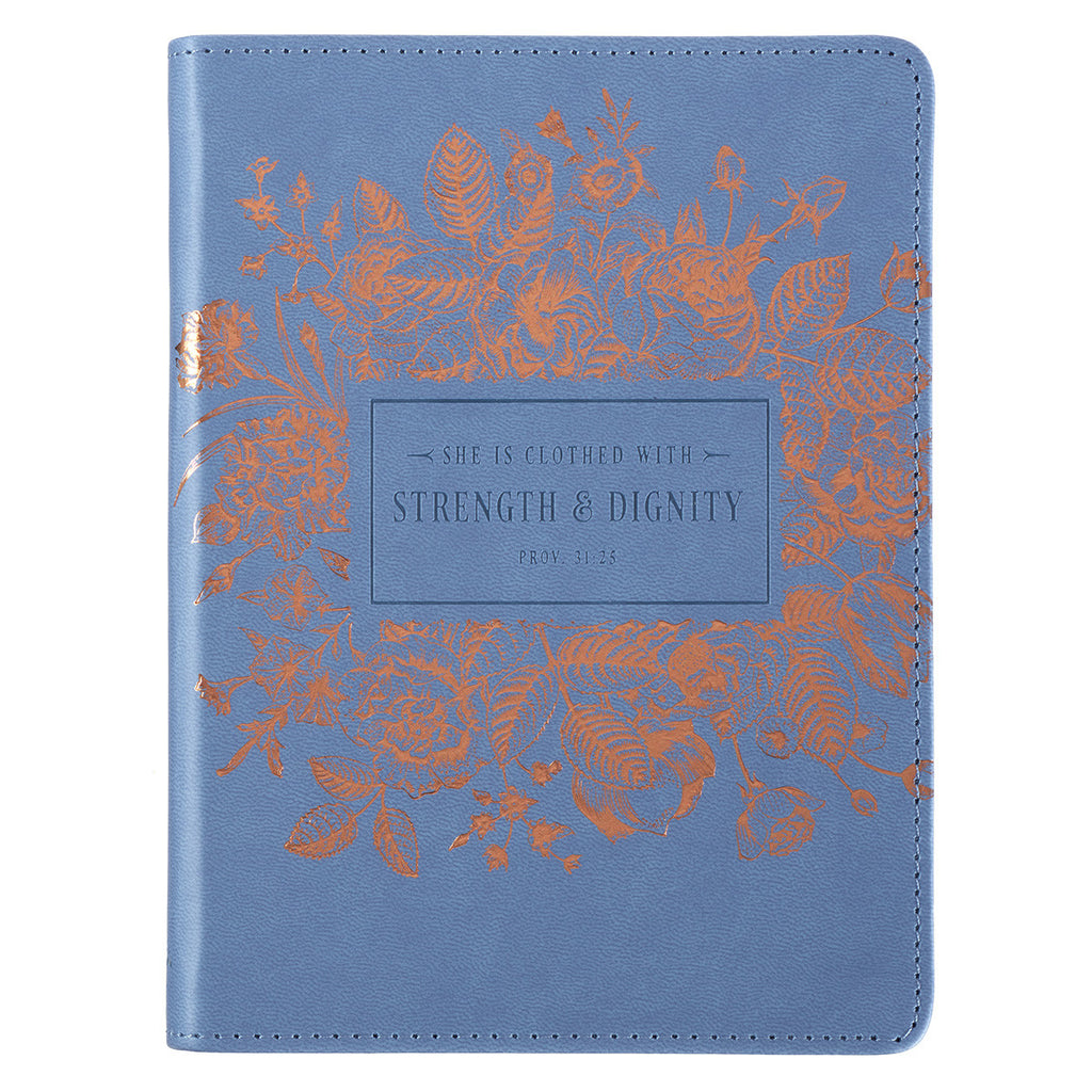 Strength and Dignity - Proverbs 31:25 - Classic Luxleather Journal