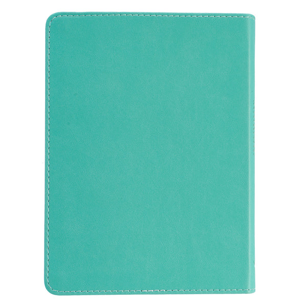 Eternal Life - John 3:16 - Teal LuxLeather Journal
