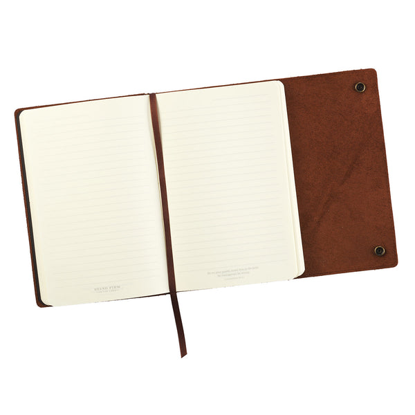 Stand Firm in the Lord - Philippians 4:1 - Leather Journal