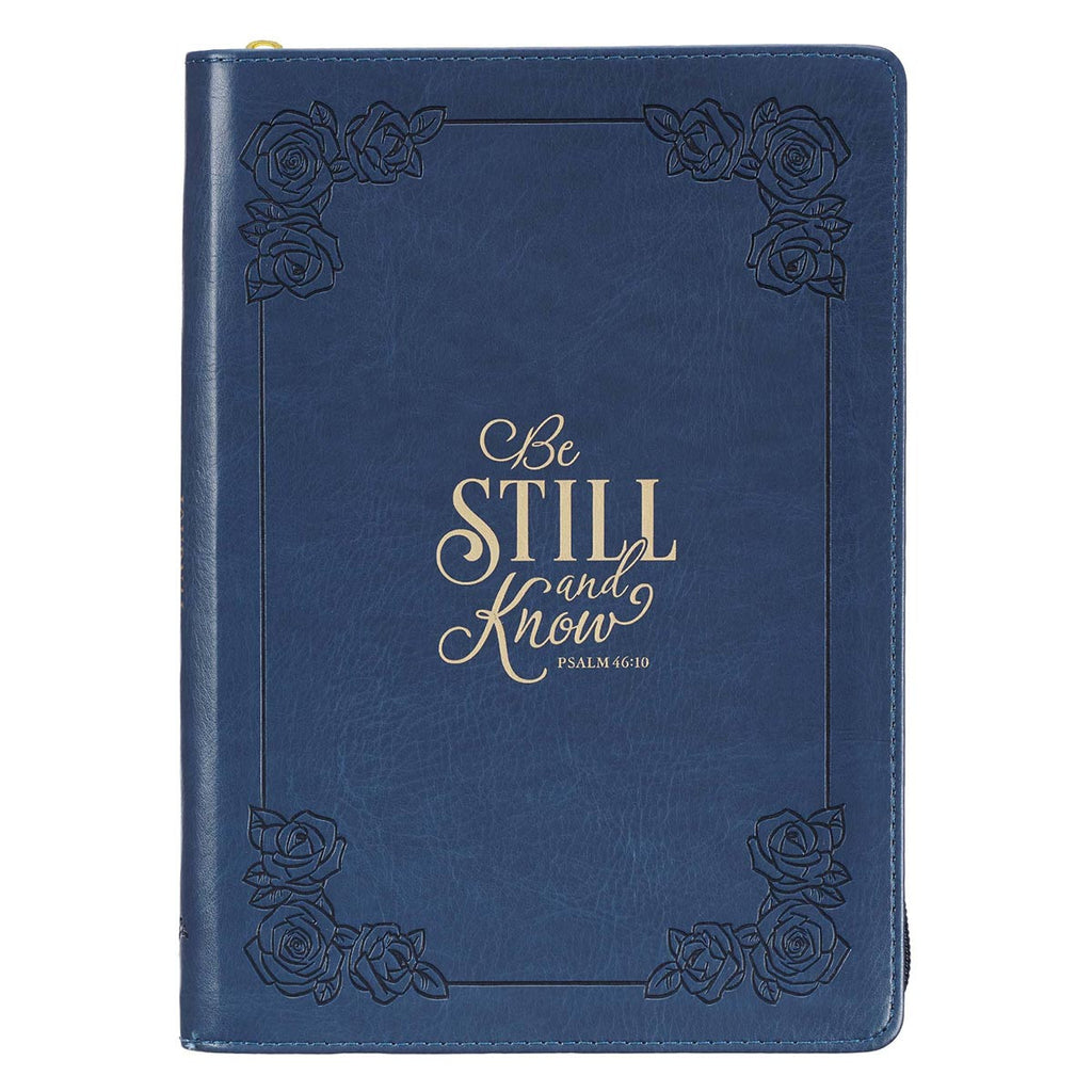Be Still and Know - Psalm 46:10 - Faux Leather Journal