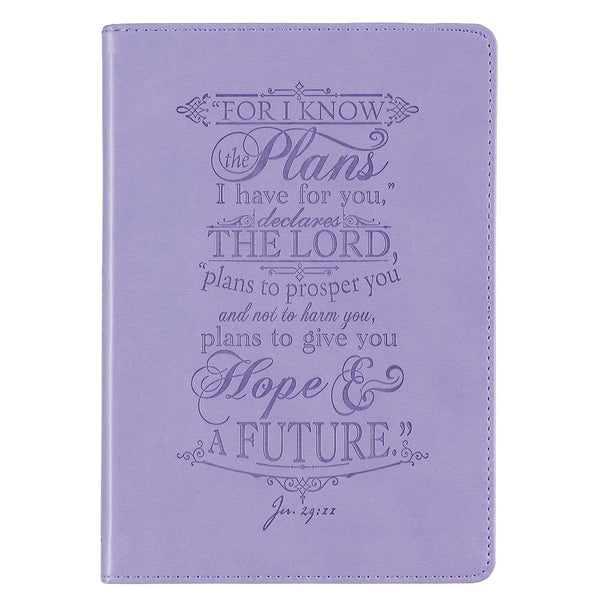 I Know the Plans - Jeremiah 29:11 - Faux Leather Classic Journal