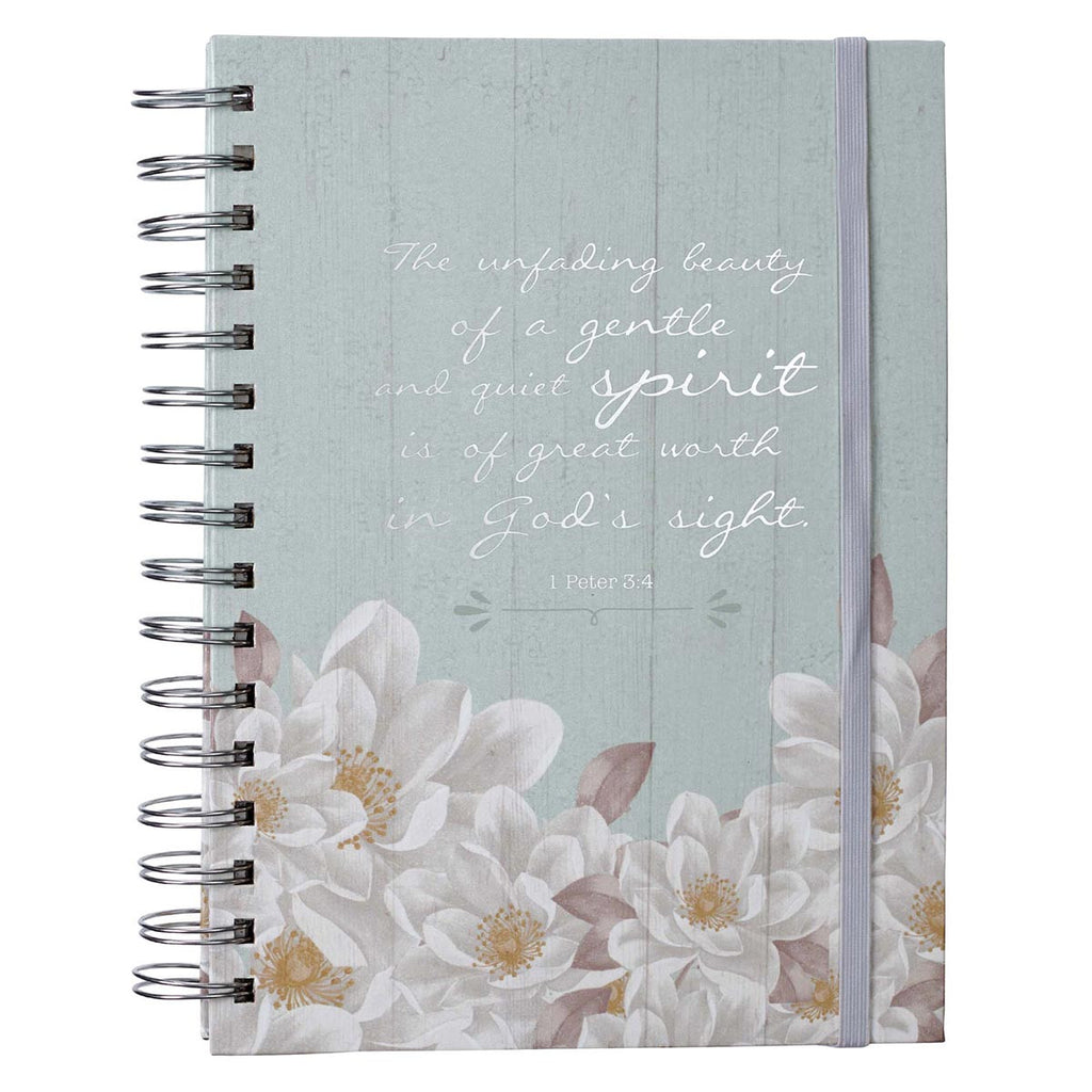 Unfading Beauty - 1 Peter 3:4 - Large Wirebound Journal