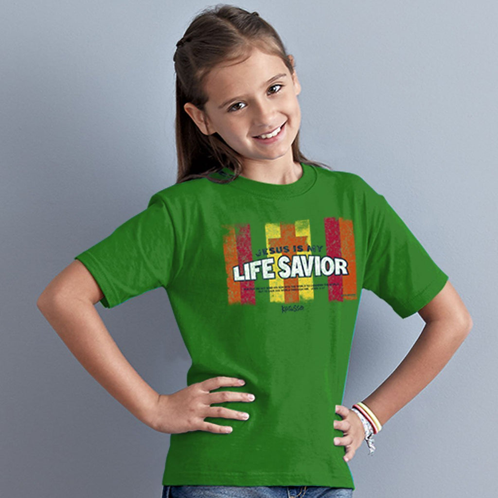 Life Savior - John 3:17 - Children's Christian T-shirt