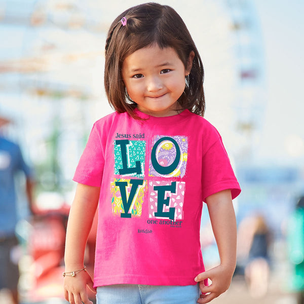 Love One Another - John 13:34 - Children's Christian T-shirt