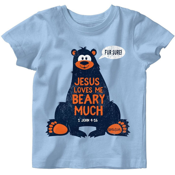Jesus Loves Me Beary Much Babies' Christian T-shirt