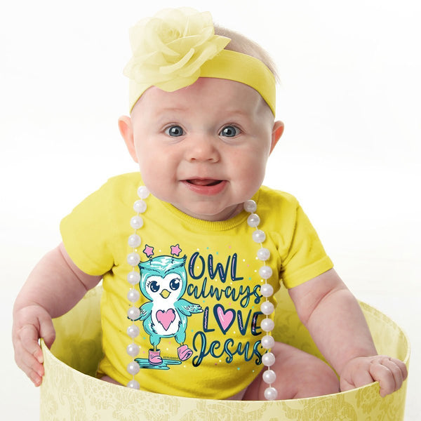 Owl Always Love Jesus Babies' Christian T-shirt