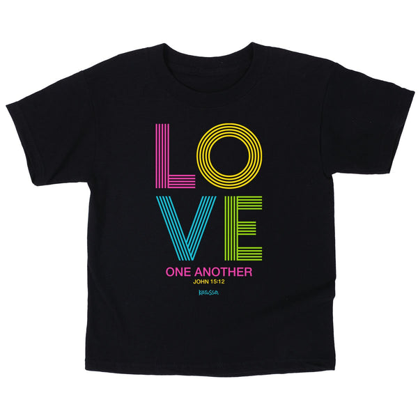 Love One Another - John 15:12 - Children's Christian T-shirt