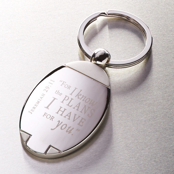 I Know the Plans - Jeremiah 29:11 - Metal Keyring