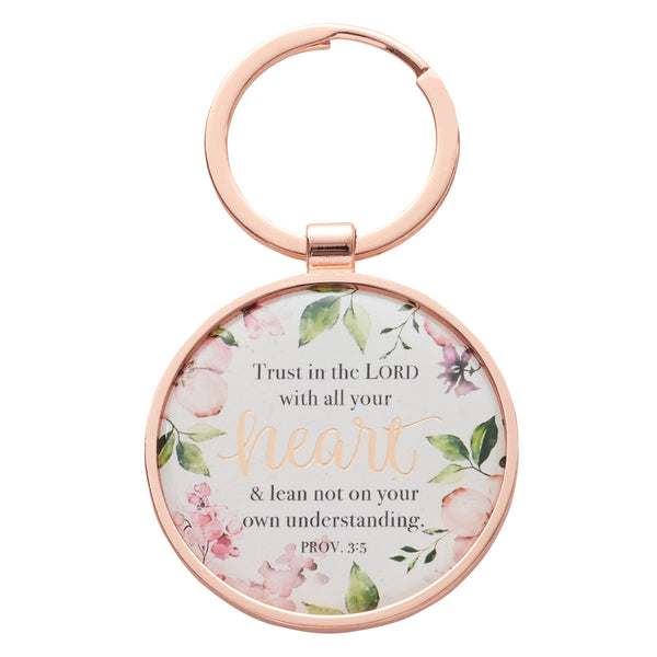 Trust in the Lord - Proverbs 3:5 - Keyring