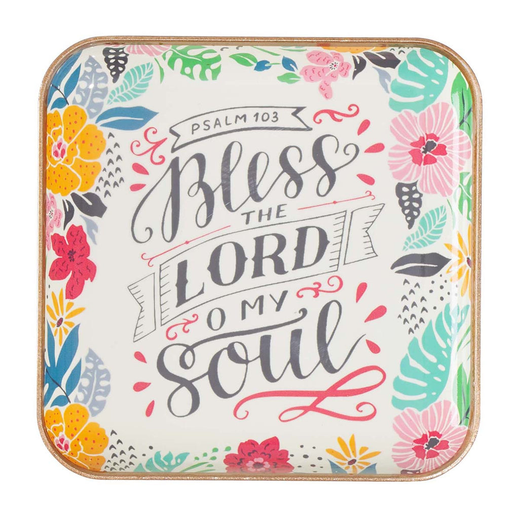 Bless the Lord, O My Soul - Psalm 103 - Metal Trinket Tray