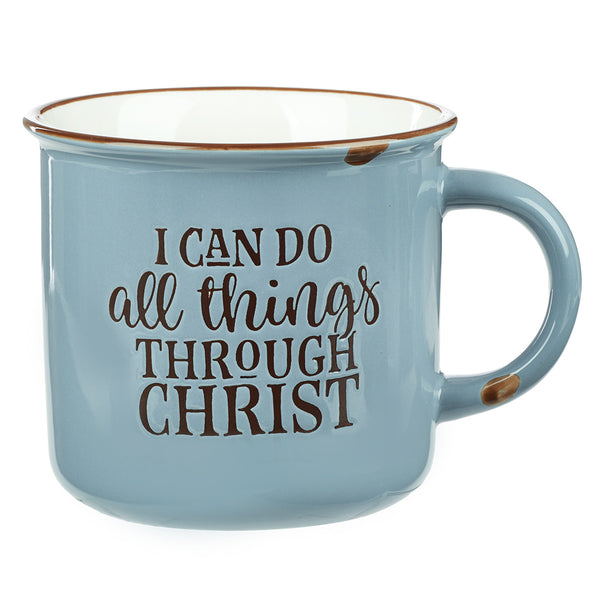 I Can Do All Things - Philippians 4:13 - Camp Style Mug