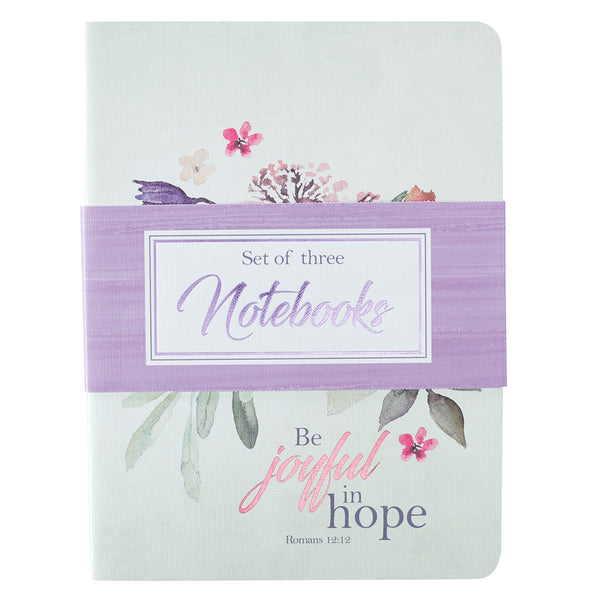 Be Joyful in Hope - Romans 12:12 - Notebook Set (Set of 3)