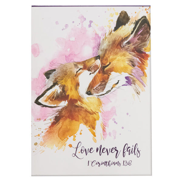 Love Never Fails - 1 Corinthians 13:8 - Pet Notepad (Set of Three)