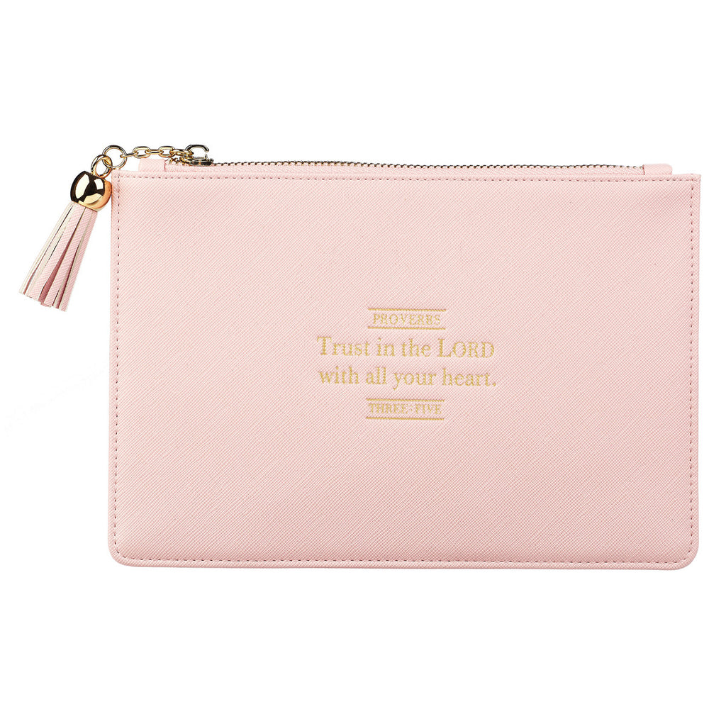 Trust in the Lord - Proverbs 3:5 - LuxLeather Pouch