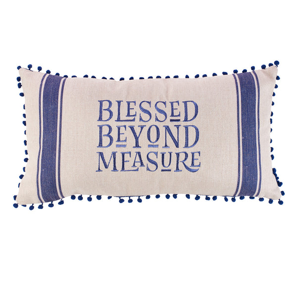 Blessed beyond Measure Embroidered Pillow