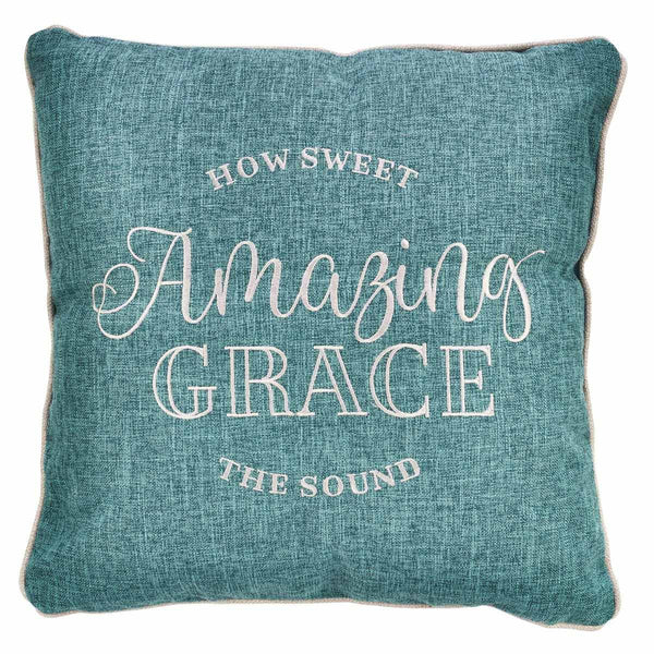 Amazing Grace Embroidered Pillow