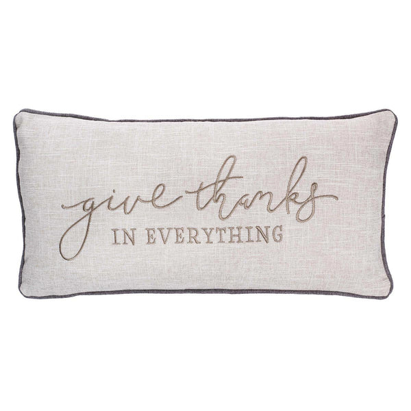 Give Thanks in Everything Embroidered Pillow