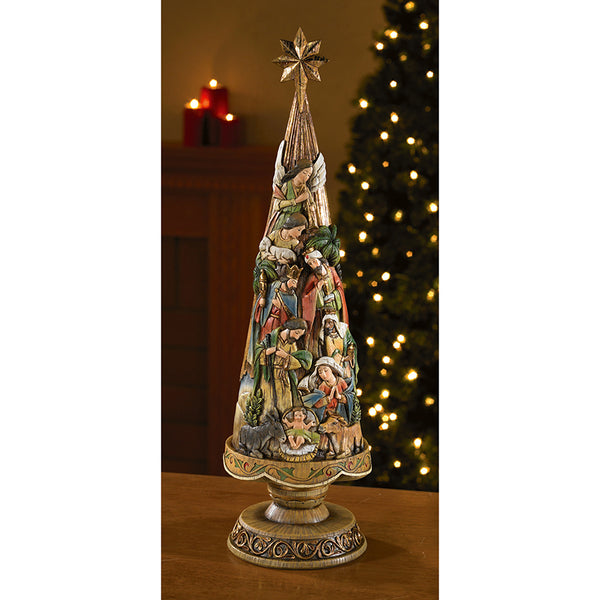 "20.5"" Nativity Christmas Tree"