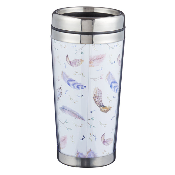 He Will Shelter You - Psalm 91:4 - Polymer Travel Mug
