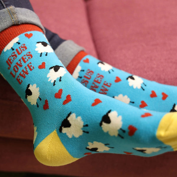 Jesus Loves Ewe Socks