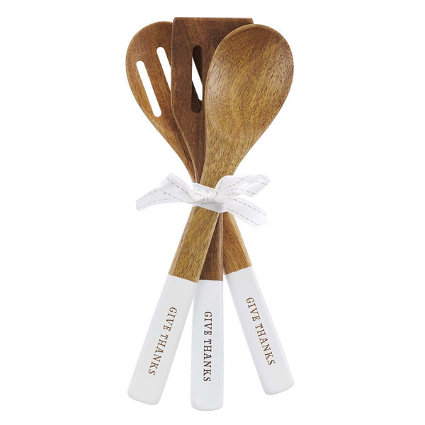 Give Thanks in Everything - 1 Thessalonians 5:18 - Wood Spoon Set